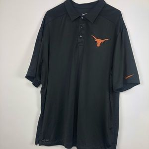 Texas Longhorns Adult 2XL Nike Dri-fit Black
